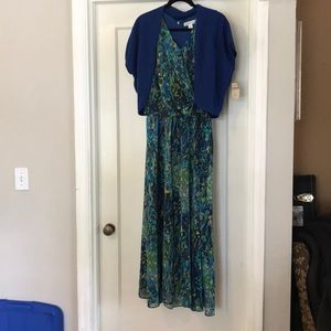 NWT, Coldwater Creek dress& shrug sz10